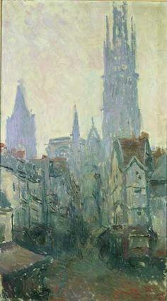 Claude Monet, La rue de l'Épicerie à Rouen - 1892