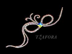 Ballroom hair accessories and ballroom jewelry made with Swarovski, available at www.tzafora.com © 2015 Tzafora. Handmade in Canada.