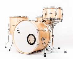 C&C Drums Europe - Vintage Drums - Player Date 2 - Natural Maple - Kit (side) www.candcdrumseurope.com