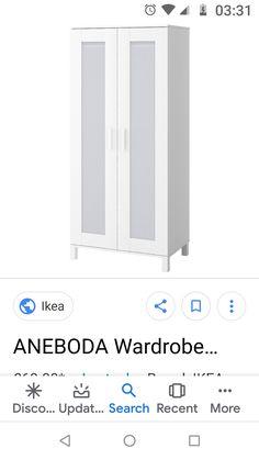 Ikea Aneboda, Aneboda Wardrobe, White Houses, Bathroom Medicine Cabinet, Black And White, Grey, Silver, Home, White Homes