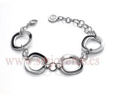 Pulsera Viceroy Fashion de acero. Esmalte negro. Medida: 19 cm. adaptable hasta 15 cm. con anillas.  REFERENCIA: 2196P01010  Fabricante: Viceroy