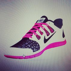 Nike pink leopard 5.0 frees