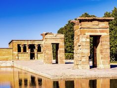 10 Best Free Things to Do in Madrid  Discover Madrid's Egyptian temple.  Temple of Debod, an Egyptian-style building found on a hill in Parque del Oeste. This prestigious gift was given to Spain for helping to preserve temples along the Nile. It's free to explore in small groups during opening hours. The area around the temple is a popular spot for locals, who plan picnics there, and it's one of the best places in Madrid to relax and watch the sunset