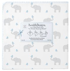 """Swaddle Designs """"Elephant and Morning Sky Chickies"""" Swaddle Blanket"""