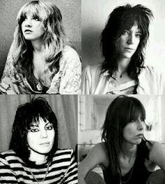 Stevie Nicks, Patti Smith, Joan Jett, and Chrissie Hynde - amazing women!
