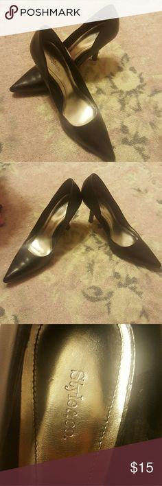 Style & Co black heals Black 3.5 inch heals... good condition! Style & Co Shoes Heels