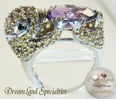 Unique Sterling Silver Amethyst Citrine Ring 103 by DLSpecialties, $300.00 Best Price Guarantee! FREE $25 Gift Certificate with purchase!