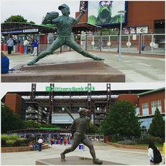 Hall of Fame pitcher Steve Carlton and Hall of Fame third baseman Mike Schmidt in front of the Phillies stadium! #baseball #sports #mlb #philadelphia #pennsylvania #mlbhistory #philly #cityofbrotherlylove #phillies #philadelphiasportscomplex #southphilly #citizenbankpark #libertybell #philadelphiaphillies #dodgersvsphillies #chaseutley #phillygram #HallOfFamers #stevecarlton #mikeschmidt #icons #exploringthestadium #stadium #statues #stadiumsights #travel #visitphilly #mystadiumtravels