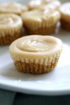 Mini peanut butter cheesecakes.  Yum