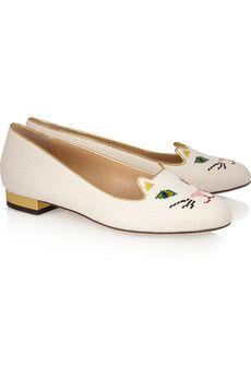 Charlotte Olympia kitten slippers