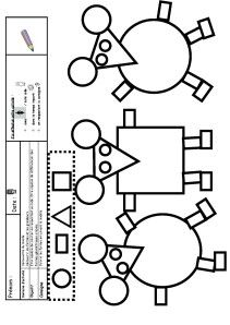 (coloriage cod+®)                                                                                                                                                     Plus Montessori Math, Preschool Learning Activities, Kindergarten Math, Teaching Shapes, Teaching Math, Maths, School Lessons, Art Lessons, Sudoku