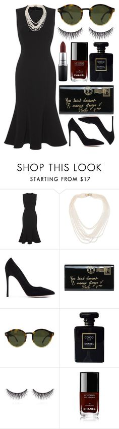 """""""Untitled #658"""" by clary94 ❤ liked on Polyvore featuring Dolce&Gabbana, Oscar de la Renta, Gianvito Rossi, Yves Saint Laurent, Tom Ford, Chanel, shu uemura and MAC Cosmetics"""