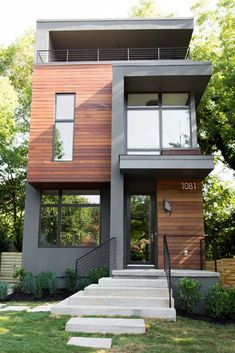 House architecture design - Analyzing The Best Contemporary House Designs – House architecture design Minimalist House Design, Small House Design, Modern House Design, Modern Contemporary House, Architecture Design, Modern Architecture House, Minimal Architecture, Creative Architecture, Townhouse Designs