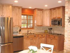 granite Countertops With maple Cabinets | CORNER VIEW AFTER: MAPLE CABINETS, GRANITE COUNTERTOPS, STAINLESS ...