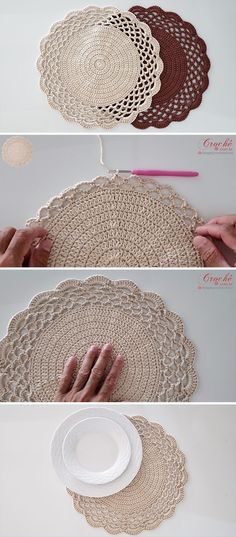 Learn how to crochet coasters in different colours, shapes, patterns, and sizes! Watch the full step by step tutorial to make a lovely crochet coaster. Crochet Motifs, Crochet Doilies, Crochet Yarn, Crochet Stitches, Crochet Hooks, Crochet Coaster, Mandala Crochet, Knitting Patterns, Crochet Patterns