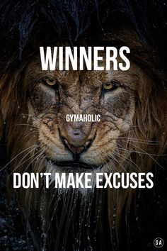 Never!! Losers and complainers do!! Average people!