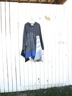 up cycled fashion / upcycled / funky boho hoodie dress / eco tunic / by CreoleSha, $92.00