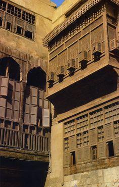 Mamluk windows in Cairo, Egypt.