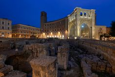 Amphitheater perspective in Lecce - Salento -  Italy http://www.salentourist.it/default_en.aspx
