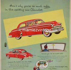Vintage Chevy Car Magazine Ad/ Chevrolet Vintage by mamiezvintage, $9.95