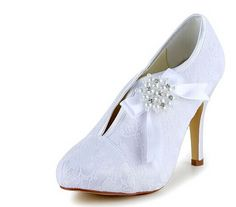 """Graceful Women's Wedding Shoes With Imitation Pearls and Bow Design Color: WHITE, BEIGE, CHAMPAGNE, BLACK, RED, SILVER Size: 34, 35, 36, 37, 38, 39, 40, 41, 42 Category: Wedding & Events > Wedding Shoes   Gender: Women  Pumps Type: Basic  Toe Style: Closed Toe  Toe Shape: Round Toe  Shoe Width: Medium(B/M)  Heel Type: Stiletto Heel  Heel Height Range: High(3-3.99"""")  Embellishment: Bow  Occasion: Wedding    #laceweddingshoescheap #laceshoes #wedingshoes #cheapshoes #bridgat.com"""