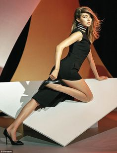 Strike a pose! Worthy of a glam evening out at a cocktail party or private dinner, Gigi sp...
