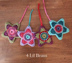 Crochet Pattern: Christmas Tree Ornament Crochet di 4LilBeans
