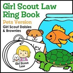 Prevent Obesity In Kids Girl Scout Law Ring Book - Pets Version - Girl Scout Daisies Brownie Pet Badge, Girl Scout Brownie Badges, Brownie Girl Scouts, Girl Scout Daisy Petals, Daisy Girl Scouts, Girl Scout Law, Calming Activities, Family Activities, Childhood Memories 90s