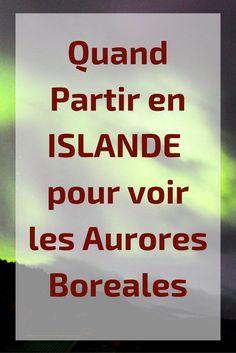 Quand partir en islande aurores boreales