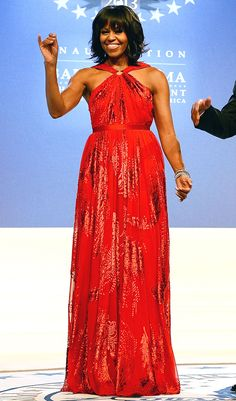 Presidential Inauguration 2013: All the Stars and Celebrations: Michelle Obama. Mrs Obama is wearing Jason Wu.