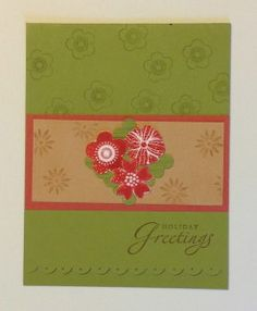 Flowers embossed to stand out on card.