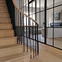 Campden Hill Road London, W8 Staircase Interior Design, Home Stairs Design, Railing Design, Stair Railing, Stair Design, Railings, Victorian Townhouse, London Townhouse, London House