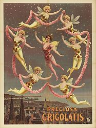 Vintage Circus Dance Poster 1906