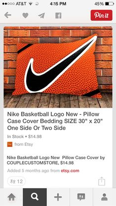 Bedding for a basketball themed bedroom.