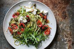 Fresh Tomato, Kale, and Caper Pasta