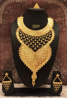 Imitation gold plated necklace set with earring and ring Wire Necklace, Gold Plated Necklace, Necklace Set, Gold Jewelry For Sale, Gold Jewellery Design, Bangle Set, Gold Bangles, Necklace Designs, Gold Fashion