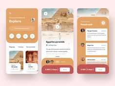 travel app experience - 2 designed by Sudhan Gowtham . Connect with them on Dribbble; App Ui Design, Interface Design, Layout Design, Wireframe, Mobile App Ui, Ui Design Inspiration, Mobile Design, Ios App, Travel