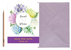 Boho Chic Wedding SAVE THE DATE  Floral by LoveArtsStationery