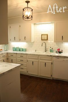 """""""we went with Formica's Calacatta Marble 180fx laminate countertop. Yes, I replaced Formica with Formica. And I couldn't be happier with it! I had a hard time finding reviews of real people who actually installed it and lived with it """" see more at website"""