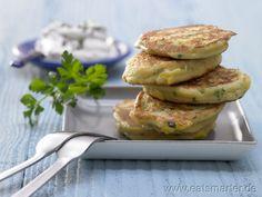 Schnelle Maispuffer mit Kräuterfrischkäse - smarter - Kalorien: 557 Kcal | Zeit: 15 min.