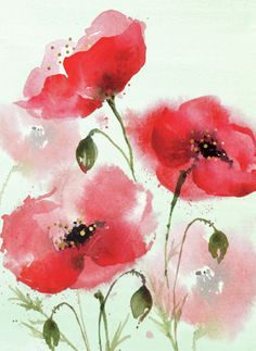 – Millions of Creative Stock Photos, Vectors, Videos and Music Files For Your Inspiration and Projects – BuzzTMZ Watercolor Flowers Tutorial, Watercolor Poppies, Watercolor Cards, Abstract Watercolor, Watercolor Illustration, Watercolor Artists, Watercolor Portraits, Abstract Oil, Watercolor Landscape