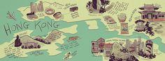 Hong Kong, China by Natalie Woo   draw a map   Pinterest