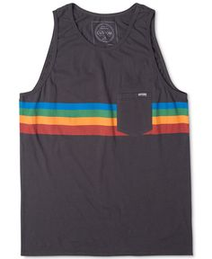 A rainbow of stripes makes this ultra-fun tank top from Rip Curl a laid-back…