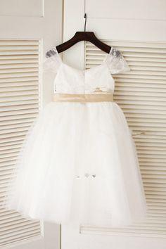 Flower Girl Dress Wedding Easter Junior Bridesmaid Baptism Baby Infant Children #FlowerGirlDress