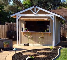 Outdoor Bar Sheds Are The Cool New Way To Convert Your Dusty Old Garden Shed is part of Backyard garden Shed If you're hoping to clear out some clutter from your garage, like, say, that old dart b - Backyard Storage Sheds, Backyard Sheds, Outdoor Sheds, Shed Storage, Garden Sheds, Garden Bar Shed, Pool Storage, Diy Storage, Storage Ideas