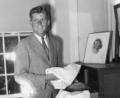 """""""John F. Kennedy and his sister Rosemary in Hyannis Port, 1935. """""""