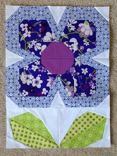 Swedish Bloom-Time Lap Quilt block. | Flickr - Photo Sharing!: