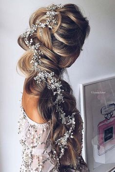 Wedding hairstyle with braid