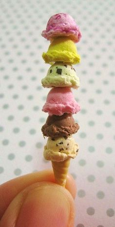 We all scream for ice cream - Polymer Clay Miniature Kawaii ice cream