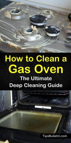 How to Clean a Gas Oven - The Ultimate Deep Cleaning Guide - Cleaning Hacks Clean Gas Stove Top, Gas Stove Cleaning, Clean Stove Burners, Gas Stove Burner, Kitchen Cleaning, Kitchen Hacks, Diy Oven Cleaning, Spring Cleaning, House Cleaning Tips